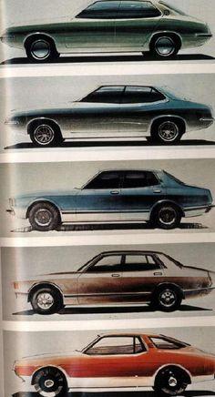 OG | 1976 Datsun / Nissan Bluebird 810 series Coupé | Design sketches