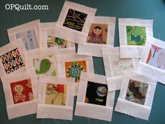 Polaroid Blocks from OPQuilt -- really cute way to do an I Spy quilt!