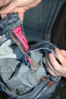 how to fix zipper jeans