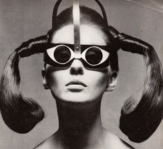 "Mrs. Tony Curtis in ""Eyeeye"" Sunglasses by Mario Marenco, Vogue - March 15th 1967, Photographed by Ugo Mulas"