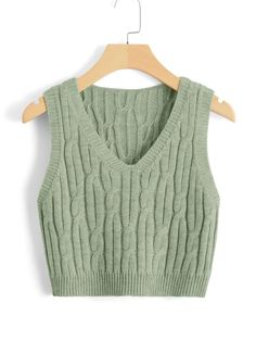 Crop Top Outfits, Retro Outfits, Vintage Outfits, Girls Fashion Clothes, Fashion Outfits, Sweater Vest Outfit, Inspiration Mode, Cable Knit Sweaters, Blouse Dress