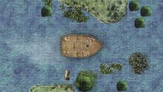 Boat and river Battle Map