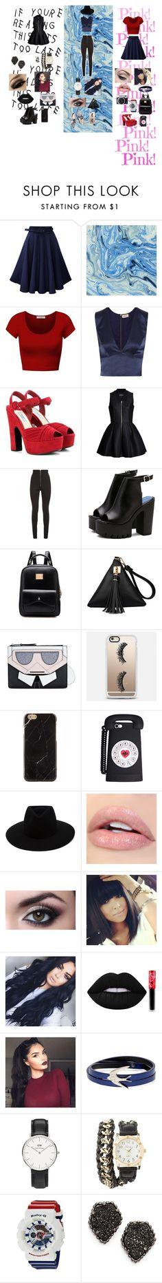 """hola hola"" by melissa-torres-velez on Polyvore featuring moda, DK, L'Agence, Prada, Lavinia Cadar, Balmain, Loeffler Randall, Karl Lagerfeld, Casetify y rag & bone"