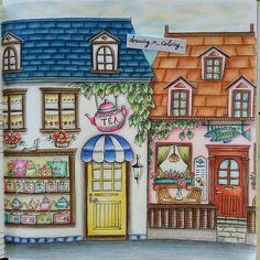 From Romantic Country Coloring Book, Book One. The artist is Eriy.