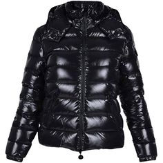 Pre-owned Bady Lacquer Hooded Short Down Jacket Size 1 Coat ($1,100) ❤ liked on Polyvore featuring outerwear, coats, black, black coat, black down coat, hooded down jacket, down coats and black down jacket