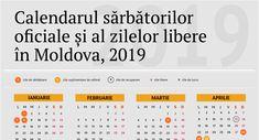 Imagini pentru calendar 2019 moldova Moldova, Calendar, Life Planner, Menu Calendar