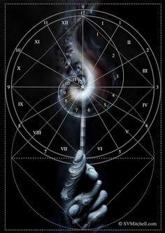 Time Mandala by S V Mitchell Sacred Geometry Art, Sacred Art, Kundalini, Sacred Architecture, Geometry Architecture, Architecture Design, Chest Piece Tattoos, Magical Images, Fibonacci Spiral
