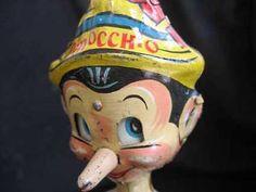 Antique Pinocchio tin toy