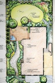 Surrounded by McMansions - Transitional - Site And Landscape Plan - dc metro - by Cathy Carr, APLD