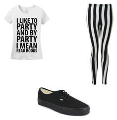 """Black and White All Day"" by keketheweirdo ❤ liked on Polyvore"