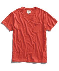 Cardinal Pocket V-Neck T-Shirt by Todd Snyder
