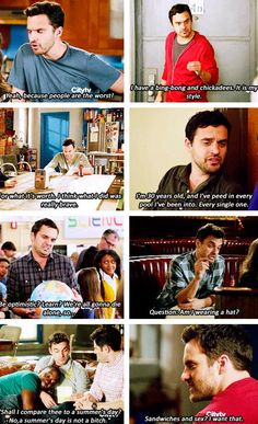 New Girl: Nick Miller (I have the biggest weirdest crush on Jake Johnson)