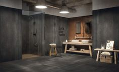 Ceramica Fondovalle: marble, cement, sheet metal effect