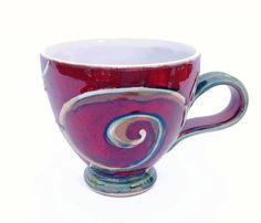 Tea mug Mother's Day gifts coffee mug red pottery by DankoHandmade
