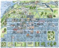Plan to visit Anchorage? This walking map will show you how to get to the best activities and sights.