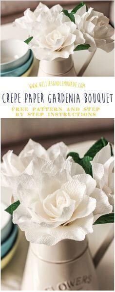 cool Gardenia crepe flower tutorial