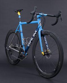 Busyman Bicycles Custom Leatherwork on: ORBIS GTX - Blue Sky, Fiji Blue, Custom Yellow | by Baum Cycles