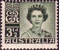 Australia 1959 SG 312 Lisenden Queen Elizabeth Fine Mint Scott 317 Other Australian Stamps HERE