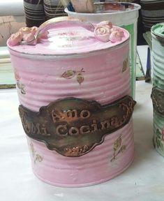 Tin Can Crafts, Tin Boxes, Gisele, Clean House, Amanda, Decoupage, Upcycle, Diys, Shabby Chic