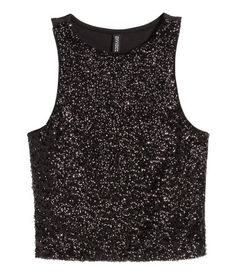 Short, sleeveless top in jersey with a solid-color back section.