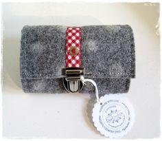 Filztasche Grau, Geldbörse, Gürteltasche, Portemonnaie,