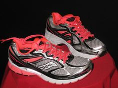 Saucony Guide 7 Women's Running #Shoes Sz8 White/Black/ViziCoral #Saucony #Running #CrossTraining