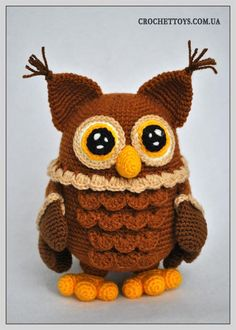 crochet owl - http://crochettoys.com.ua/index.php/en/my-toys/item/39-crochet-owl
