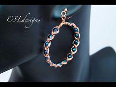 Egyptian style wirework earrings - YouTube