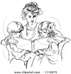 Mom Clip Art Black and White All the best vintage illustrations of yesteryear preserved at vintagebookillustrations.com