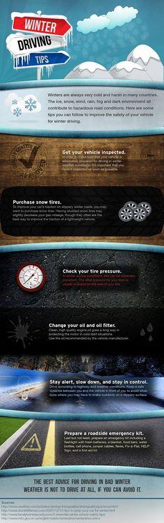 Helpful tips during winter driving #drivesafely  www.888bailbond.com