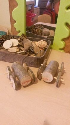 Using real tools with small children, look what you can make.