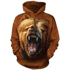 Grizzly Growl Classic Hooded Sweatshirt