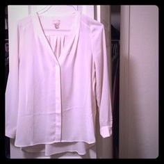 H&M Top, Perfect Condition! Awesome flowy white/cream button front blouse. Elegant, flattering, versatile. Only worn once. Perfect condition. H&M Tops Blouses