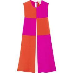 Roksanda Farren color-block silk and cotton-blend jersey dress