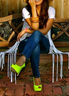 Neon pumps. #HighHeels #Shoes #Lust #ShoeLust | Visit WISHCLOUDS.COM for more...