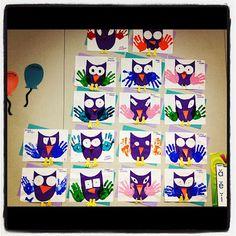 Art & Academic Night & A Math FREEBIE!- Art & Academic Night & A Math FREEBIE! Easy owl projects for the classroom! Do during open house to put on front door? Kindergarten Classroom, Classroom Activities, Preschool Crafts, Owl Activities, Classroom Teacher, Owl Theme Classroom, Classroom Ideas, First Grade Art, Ecole Art