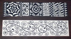 Zentangle Bookmarks | Made these bookmarks just for fun! =) I was in a bad mood but after making these, I am back to my normal self. =)  Sending these yo my friend, Carol! She won it on my blog.  craftnswap.blogspot.com