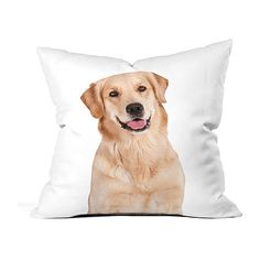 DENY Designs White Golden Retriever Fleece Throw Pillow ($22) ❤ liked on Polyvore featuring home, home decor, throw pillows, deny designs throw pillows, deny designs, white accent pillows, white home accessories and white throw pillows