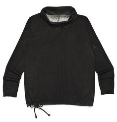 dh-m3, czarna bluza z półgolfem