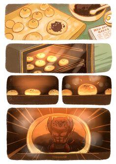 When bread expands… http://www.pixiv.net/member.php?id=4906888 https://www.facebook.com/tabeneko