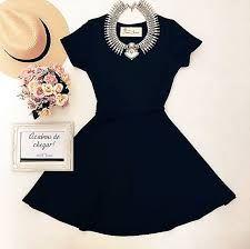 Resultado de imagem para vestido preto curto