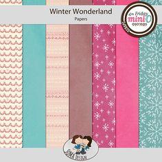 Oscraps.com :: Shop by Category :: All New :: SoMa Design: Winter Wonderland - MiniO - Minikit Winter Wonderland, Kit, Paper, Shop, Design, Design Comics, Store