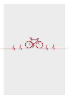 When cycling is in your heart.