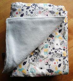 Couverture bébé toute douce en coton motif animaux et tissu Teddy