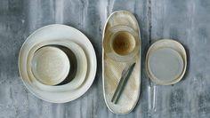Willer 'Keiko' and Italian stoneware; Hermes cutlery; Willer Murano crystal