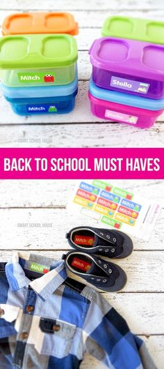 Custom Back to School Supplies for lunchboxes, clothing, shoes and more by Stuck on You