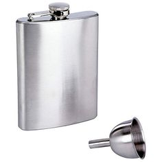Generic QYUS4160215161882921 Funnel Screw tainles Hip Pocket Flask  8 oz St 8 oz Stainless Steel Hip Po Whiskey Liquor Liquor Cap Alcohol ol Whiskey Liquor *** Click on the image for additional details.