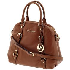 MICHAEL Michael Kors Bedford Large Bowling Satchel ($398) ❤ liked on Polyvore