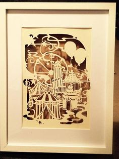 All the fun of the fair.. papercut template to download and create