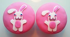 Ravin' Rabbids Cupcakes by The Coloured Bubble Cakery - Find us on Facebook!